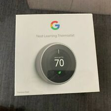Google Nest 3rd Gen. Learning Thermostat T3007ES Stainless Steel - New Sealed