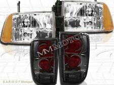 95-97 CHEVY S10/BLAZER EURO CRYSTAL HEADLIGHTS & SMOKE TAIL LIGHTS