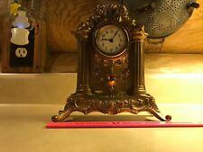 Antique Smelter Victorian Shelf Mantle Clock Ornate Cherubs Works Art Nouveau