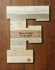 Wooden wedding guest book, alternative, personalized laser engraved guest book
