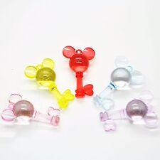 10 X Plástico Acrílico encanto pendiente clave de Mickey Mouse Mezclado Color Para Maniquí Clips