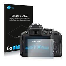 6x Pellicola Protettiva per Nikon D5300 Protezione Proteggi Schermo