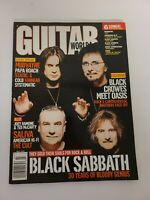 Guitar World Magazine July 2001- Black Sabbath, Mudvayne, Papa Roach, Saliva