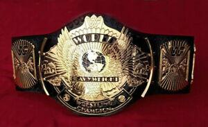 WWF WINGED EAGLE WRESTLING CHAMPION BELT 4MM ZINC & GOLD PLATED REPLICA