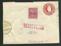 March 27 1946 registered stamped envelope clipping Rochester NY Prexie Scott 829