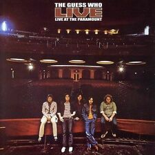 GUESS WHO LIVE AT THE PARAMOUNT 6 Extra Tracks REMASTERED CD NEW