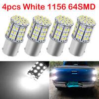 4x White 1156 BA15S 64SMD Backup Reverse LED Interior Light Bulbs 1073 1141 12V