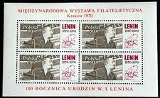 Poland – 1970 Lenin – Minisheet – Um (Mnh) (R6)