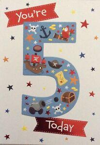 5th BIRTHDAY CARD BOY