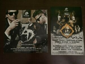 Lot of 7 EDM Postercards and Flyers : UZ, 12th Planet, Dillon Francis, Borgore +