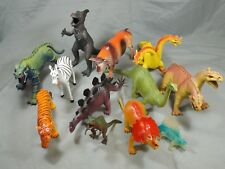 VINTAGE IMPERIAL TOYS LOT OF 12 DINOSAURS FARM/ZOO ANIMALS DRAGONS MONSTERS