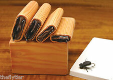 "DELUXE UNIVERSAL BEETLE BODY ""4 CUTTER SET""  with Wood Caddy Box -- Fly Tying"