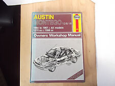 Haynes Owners Workshop Manual Austin Montego 1.3 & 1.6 (1984 to 1987)