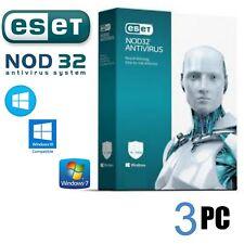 Antivirus ESET Nod 32 2018/19 3PC un Año original - -envio Sólo por email