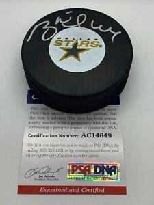Brett Hull Dallas Stars Signed AUTOGRAPH Hockey Puck PSA DNA with Case AC14649