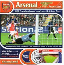 Arsenal 2003-04 Inter Milan (Freddie Ljungberg) Football Stamp Victory Card #313