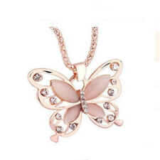 Women's Fashion Jewelry Rose Gold Butterfly Girl Pendant Necklace 66-2