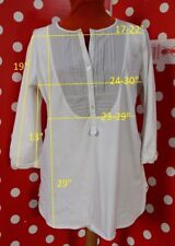 MARINA RINALDI  sz L top t-shirt tunic stretch cotton women