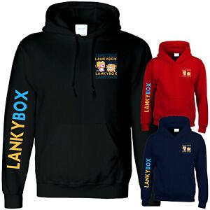 Lankybox Kids T Shirt Funny Viral Youtuber Merch Gamer Hoody Sweat Jumper Gift