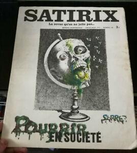 CARICATURE HUMOUR SATIRIX N°22 1973 POURRIR EN SOCIETE PAR SERRE
