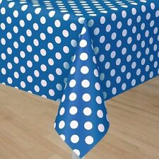 BLUE POLKA DOTS PLASTIC TABLE COVER ~ Birthday Party Supplies Baby Shower Cloth