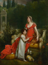Elisa Bonaparte with her daughter Napoleona Baciocchi Francois Gerard B A3 01870