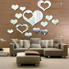 LOVE Heart Mirror Wall Sticker Removable Art Vinyl Decal Mural Party Home Decor