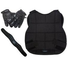 Paintball Schutzset, Brustschutz,Halsschutz, Halbfinger-Handschuhe, Gr. L,
