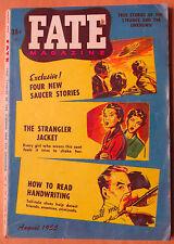 Orig August 1955 Fate Magazine V8N8 Flying Saucers Ghosts Black Magic