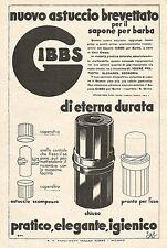 W7890 Astuccio per sapone da barba GIBBS - Pubblicità del 1933 - Old advertising