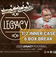 NEW ENGLAND PATRIOTS 2020 LEGACY FOOTBALL 1/2 INNER CASE 6 BOX BREAK #3