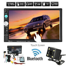 7'' 2 DIN AUTORADIO BLUETOOTH TOUCH SCREEN MP5 MP3 FM TF AUTO RADIO +TELECAMERA