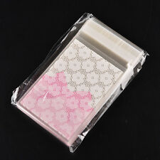 100X Mini flower lace Self Adhesive DIY Cookie Candy Package Gift Valve Bags SP