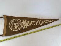 Vintage Pre 1945 North Carolina University College Pennant RARE HTF