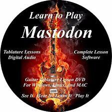 Mastodon Guitar TABS Lesson CD 78 Songs + Backing Tracks + Bonus!!
