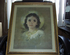 Beautiful 24X20 Vintage LIGHT OF THE WORLD  Framed Print by Florence Kroger