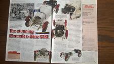 CMC MERCEDES BENZ SSKL Model Review articolo due lati CARTA oggetti effimeri MILLE MIGLIA