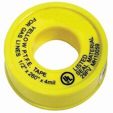 Yellow Propane, Natural Gas Line Teflon Tread Seal Tape UL Listed