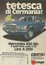 X9214 Mercedes 450 SEL BBURAGO - Pubblicità 1977 - Advertising