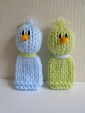 2 Little Dicky Birds - Hand Knitted Finger Puppet Toys - Nursery Rhymes - New