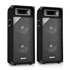 Paar PA Lautsprecher Box Aktiv Verstärker Subwoofer Soundsystem 1000 Watt