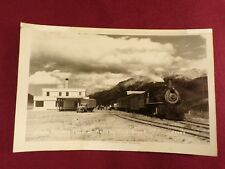 Train Engine RPPC Postcard Railroad Locomotive Alaska Railway McKinley Depot