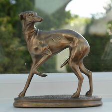 Bronze Greyhound Ornament Sculpture Statue Whippet Racing Dogs Male Gift 01035