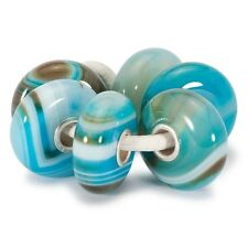 Authentic Trollbeads Original Turquoise Striped Agate Kit Tstbe-00003