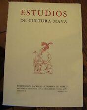 Estudios de Cultura Maya 1961 Volume 1 Mayan Culture Spanish Free US Shipping