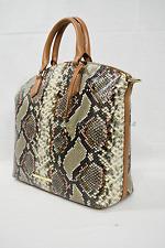 NWT Brahmin Large Duxbury Satchel/Shoulder Bag in Taupe Hermosa. Snake Embossed
