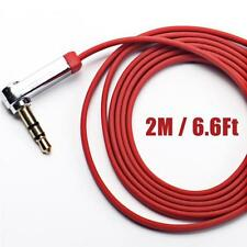 VENTON 2M 3.5mm Jack Male to Male 90 Degree Right Angle Aux Audio Flat Cable