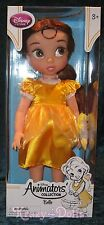 "Disney Animators' Collection 16"" Toddler Doll Princess Belle Gold Dress New!"