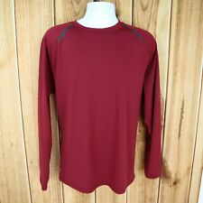 Russell Activewear Long Sleeve Shirt Mens Size XL Red Training Fit GYM QUALITY