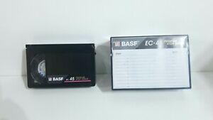 BASF EC-45 VHS-C Camcorder Video Tape Cassettes